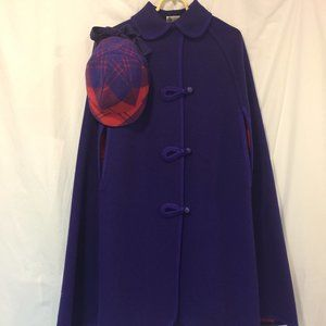 Wetherall 1960s Vintage  Reversible Wool Cape/Hat